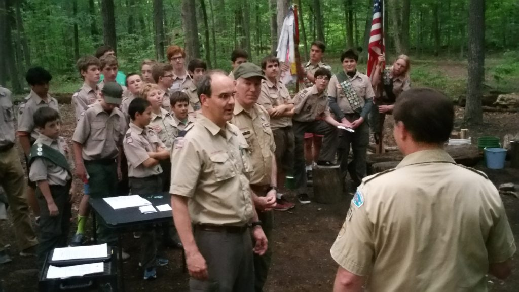 Incoming Scoutmaster Reid Lewis